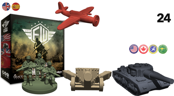 Fight for victory with your army in this strategy game, which includes 100 miniatures. Lead one of the factions from WWII.