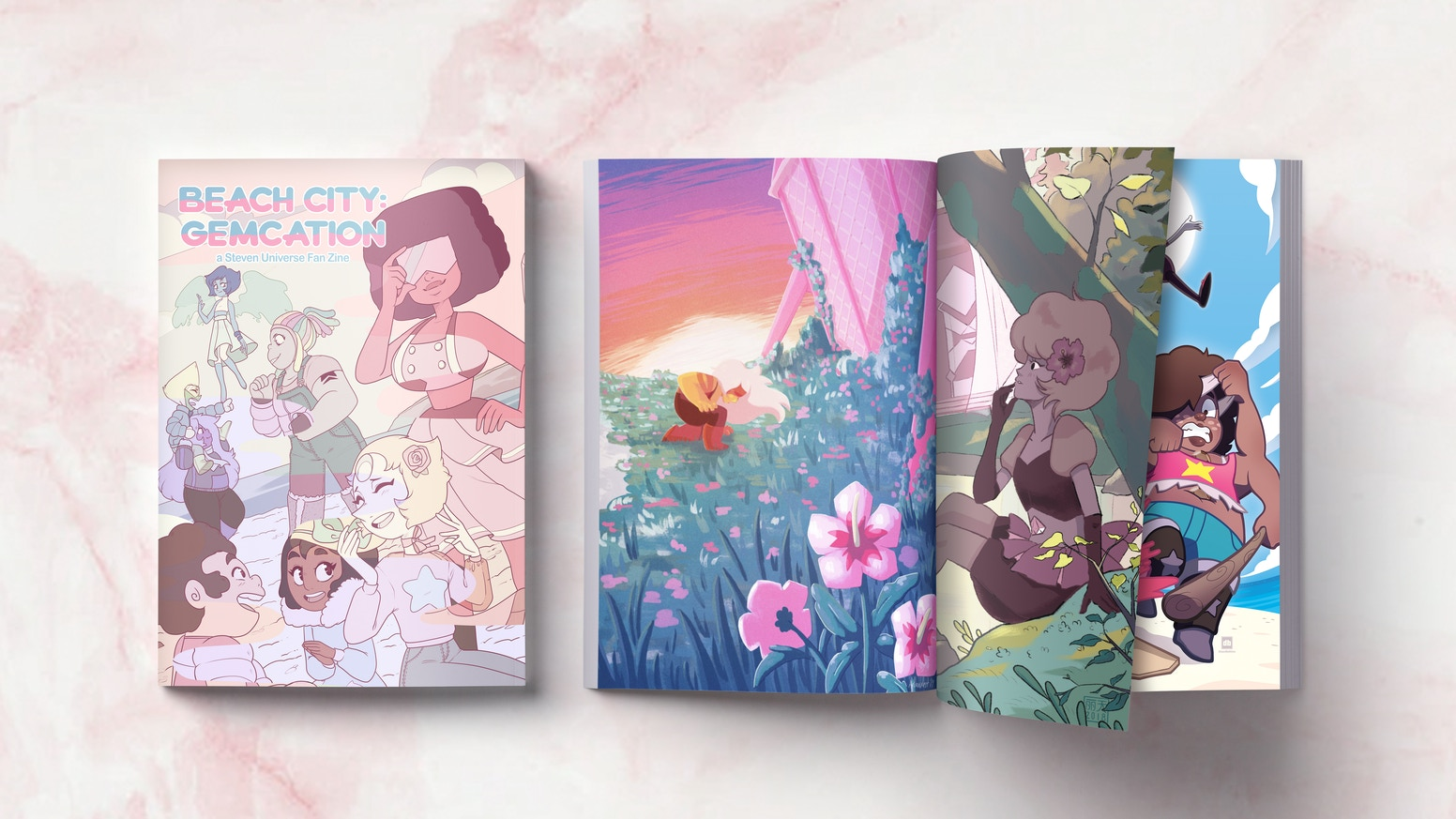 Hello Starlight! 'Beach City: Gemcation' is a SU fan zine created by fifty-two stunning artists!