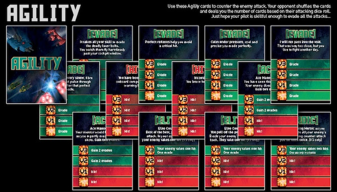 Agility Cards (Hit and Evade)