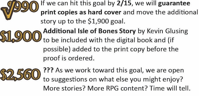 A good friend of ours has reached out to say that he is saving money to back at the level we need to reach our $990 goal in time, so we are including him here to ensure hard cover books for everybody.
