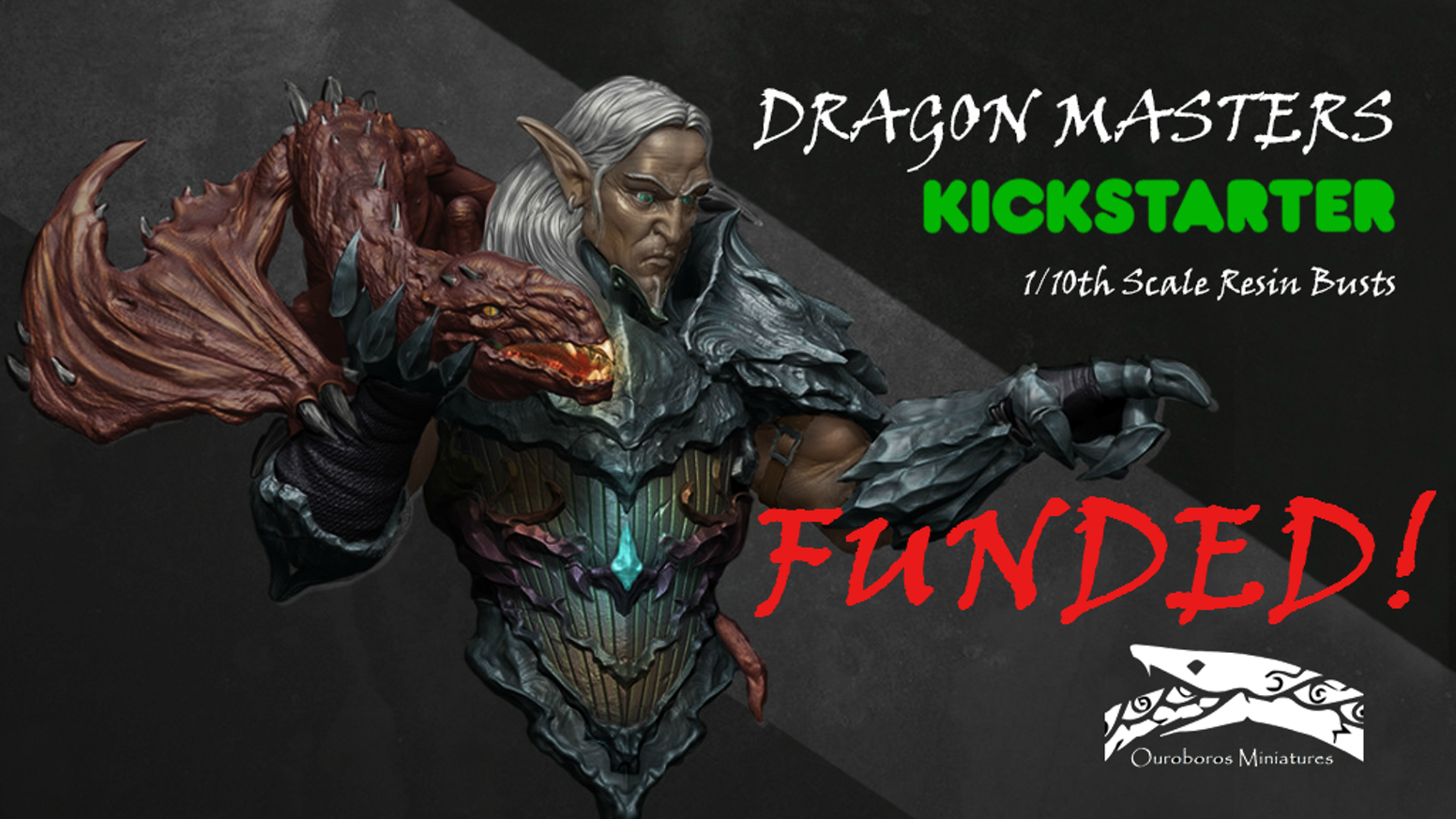 Ouroboros Miniatures presents - Dragon Masters. Fantasy busts for painters and collectors cast in high quality resin.