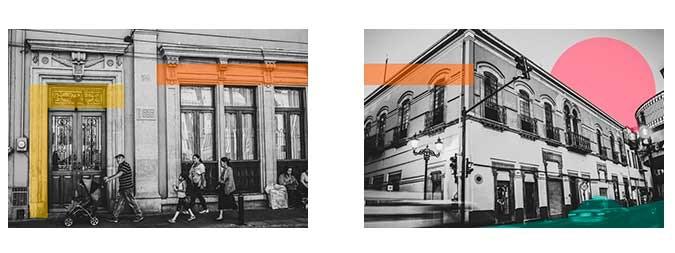 Algunas calles de la ciudad - Some streets of the city