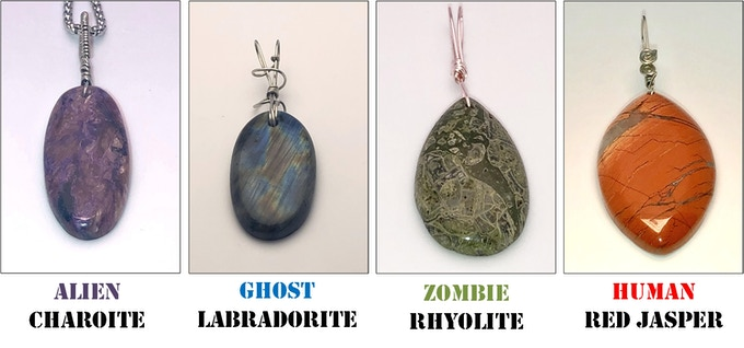 AGZ Character Amulets - Hand-crafted with unique mystical property stones.