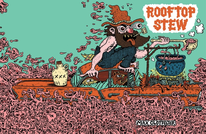 """Wraparound cover for """"Rooftop Stew"""""""