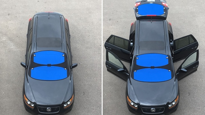 Access your vehicle without disturbing the cover