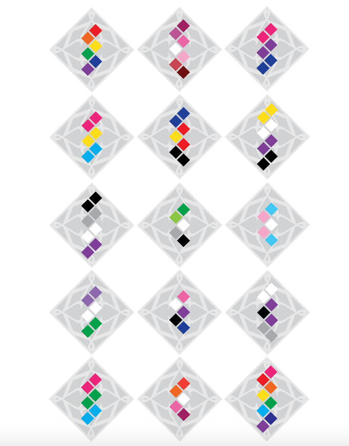 Spectris Stickers: Colorized Layouts (Illustrator)