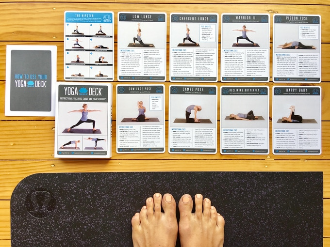 The YOGA DECK - 41 instructional yoga pose cards, and 16 yoga practice sequences
