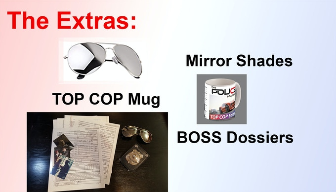 The Extras  - Note a full dossier is a multi-page document set for each Boss in the game.