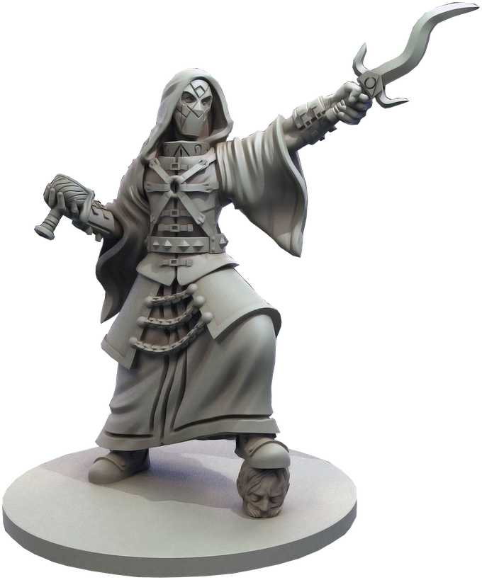 The Cultist Leader model is a crossover model from Mythos. Usable in both games, the Cultist Leader is tied explicably to Judas and has an agenda unknown to all but a few...