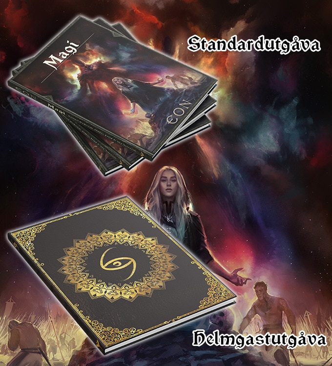 Covers of standard magic book and Helmgast-edition magic book