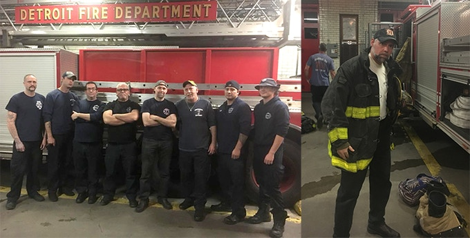 Me doing research with the crew at Engine 33/Ladder 13 Firehouse