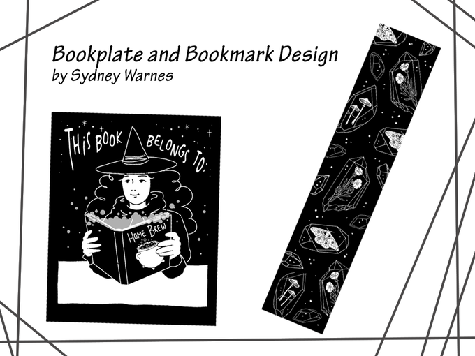 Bookmark and Bookplate design by Sydney Warnes