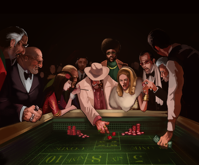 Hustler in the casino by Mike Tenebrae