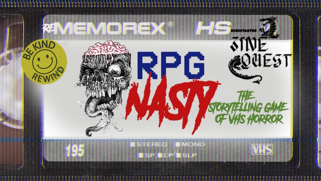 RPG NASTY: AN RPG ZINE-STYLE GAME OF 80s VHS HORROR project video thumbnail