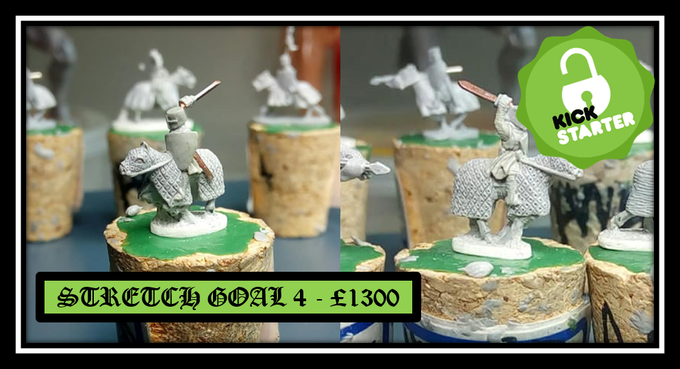 Unlocked Stretch goal 4 - Mounted knight Quilted Barding