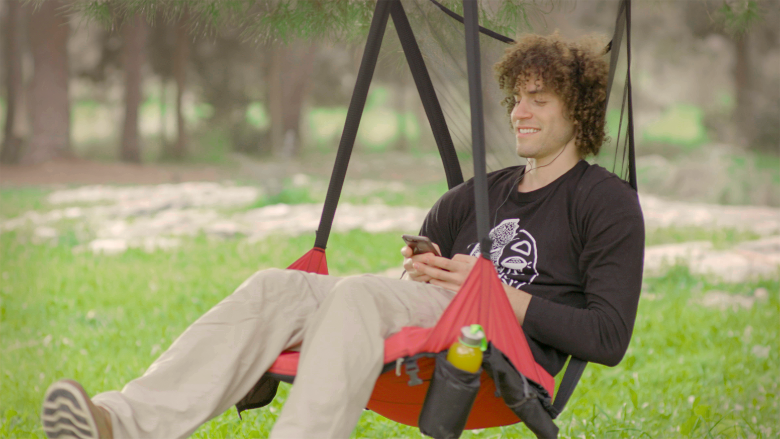 HoverChair is a light, portable, and super-comfortable hanging chair designed to help you relax in style... No matter where you are.