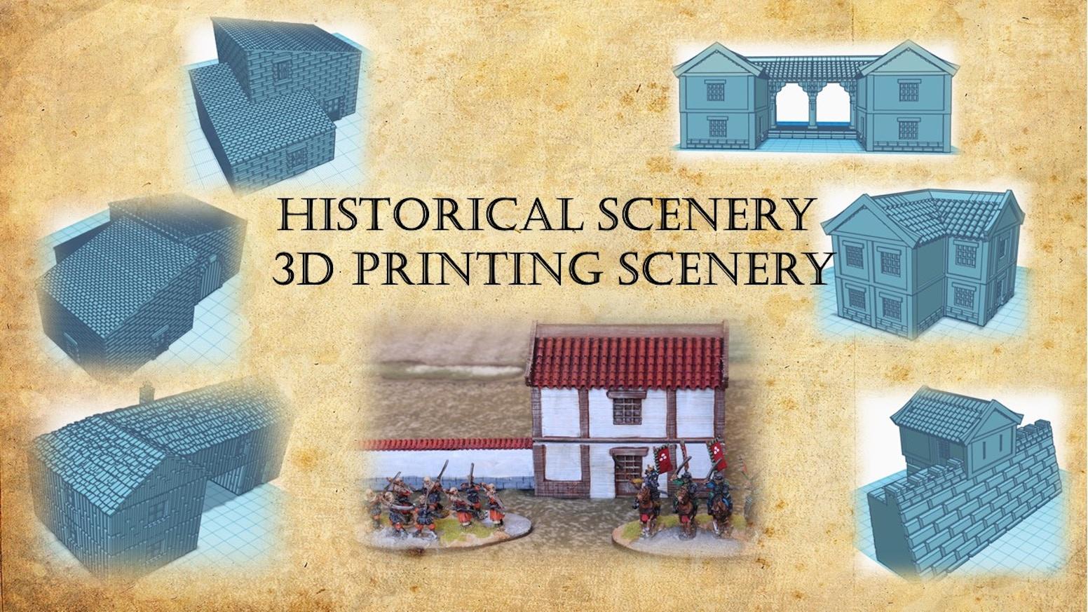 Un ensemble de fichiers .stl de décors pour le wargame historique, toutes échelles confondues