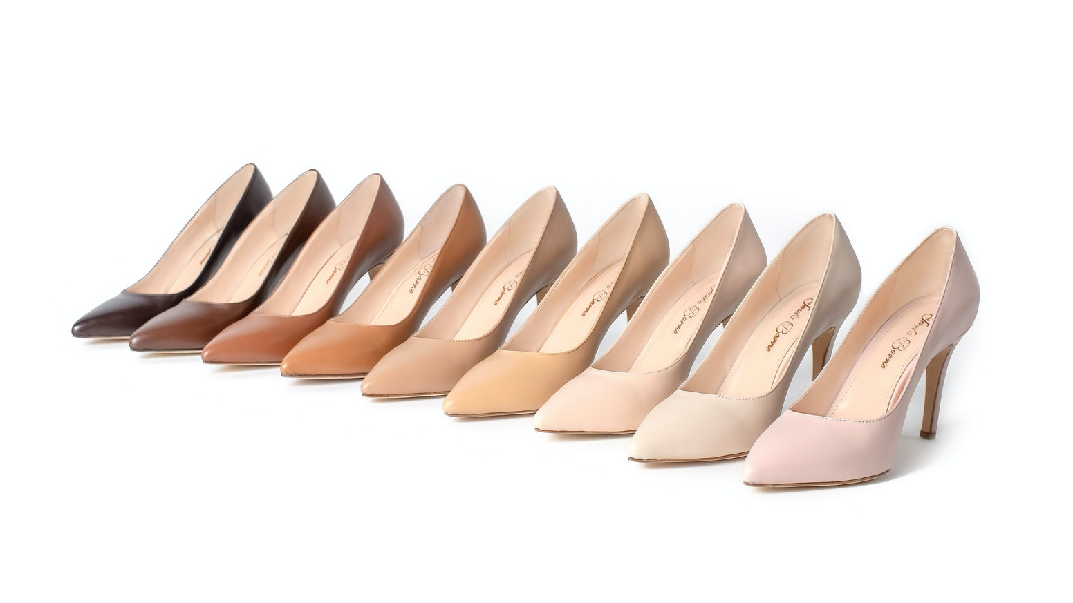 A luxury skin-tone shoe line dedicated to redefining the meaning of nude shoes. The Ultimate Nude Pumps have arrived!