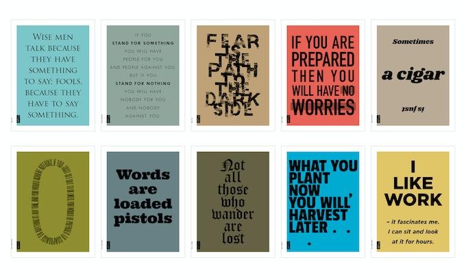 Plato, Maurice Saatchi, Yoda, Li Ka Shing, Sigmund Freud, Margaret Thatcher, Jean-Paul Sartre, J. R. R. Tolkien, Og Mandino, Jerome K. Jerome.
