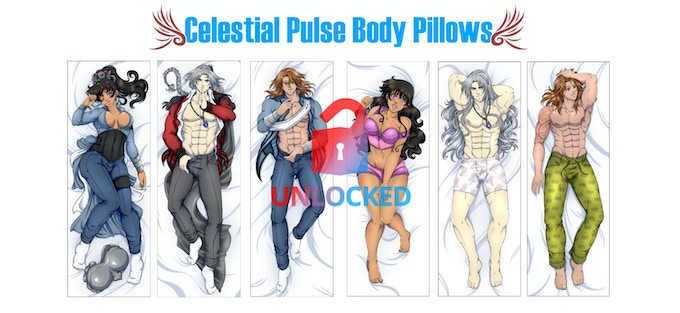 Left Side is front of the body pillows, Right Side is back of the body pillows.