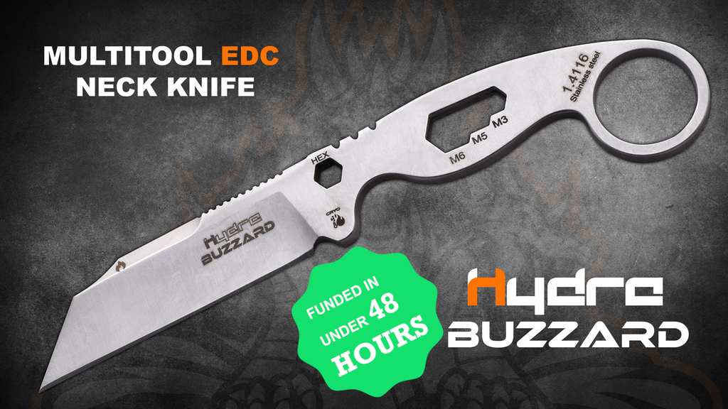 BUZZARD: U.S.A-INSPIRED EVERYDAY CARRY MULTITOOL NECK KNIFE