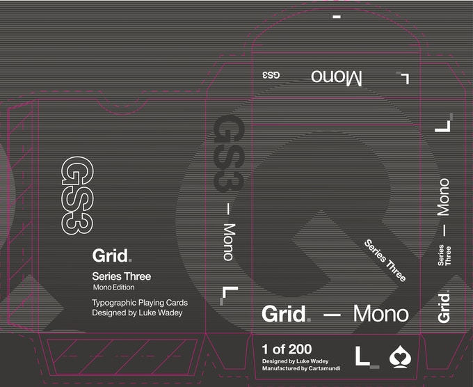 Grid. Series Three - Mono Edition tuck box