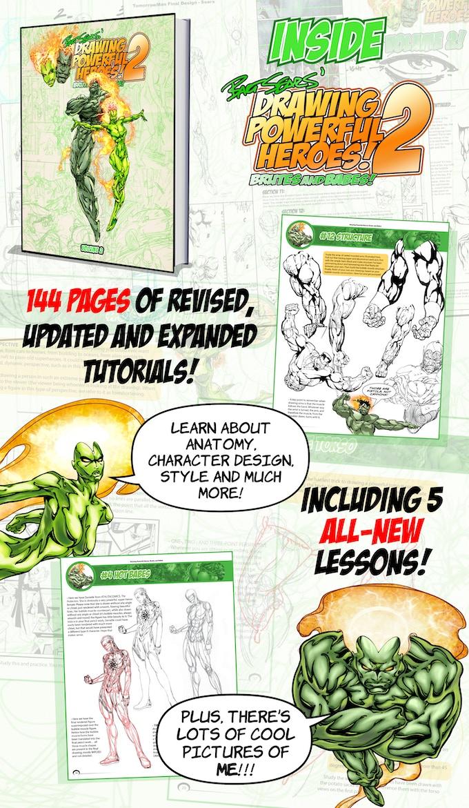 Inside Drawing Powerful Heroes: Volume 2!