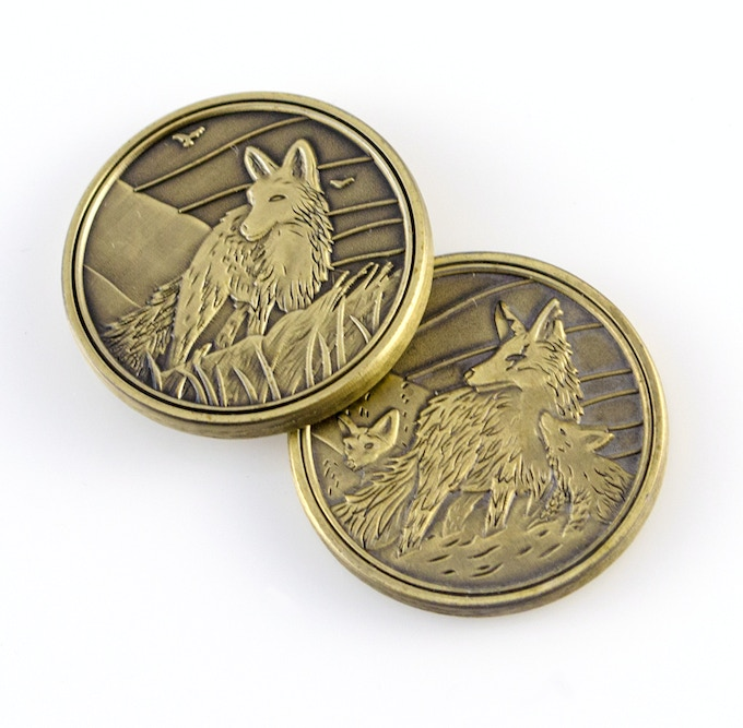 Golden Fox Token designed by Doug Keith and manufactured by Campaign Coins!