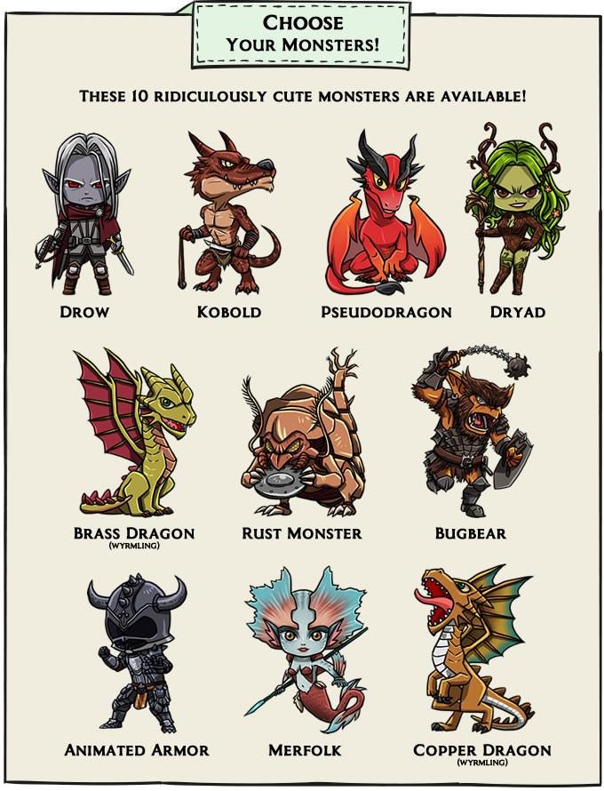 D&D Chibi Monster Pins by Cody Knox — Kickstarter