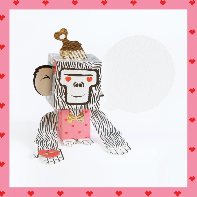 Tell your loved ones they're the one that you like, want and care!  Celebrate the season of romance with this love monkey at first sight, or let your monkey be a very special gift holder!