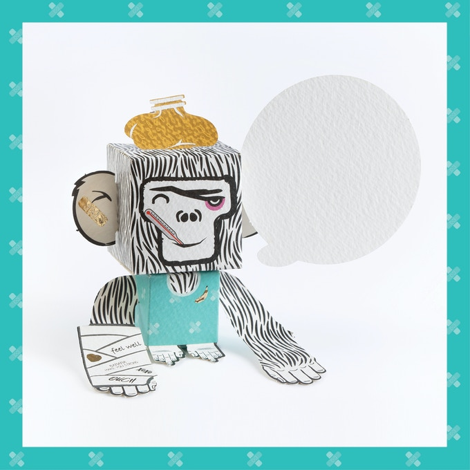 ​Cheer up your loved ones with this wishing well Monkey.