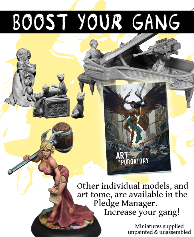 Add members to your gang and expand your game play with fresh recruits from our range of models