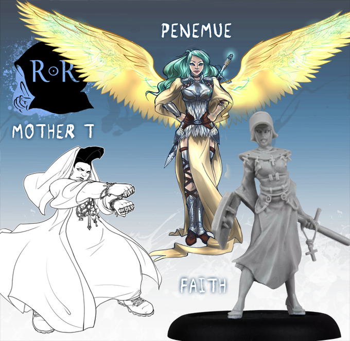 Penemue and Mother T join Faith ine being brought to life in this faction