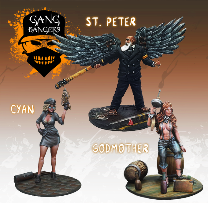 St Peter, Cyan and Godmother stand ready to kick ass in this starter set