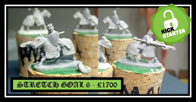 Unlocked stretch goal 6 - Mounted Knight charging lance Armored steed