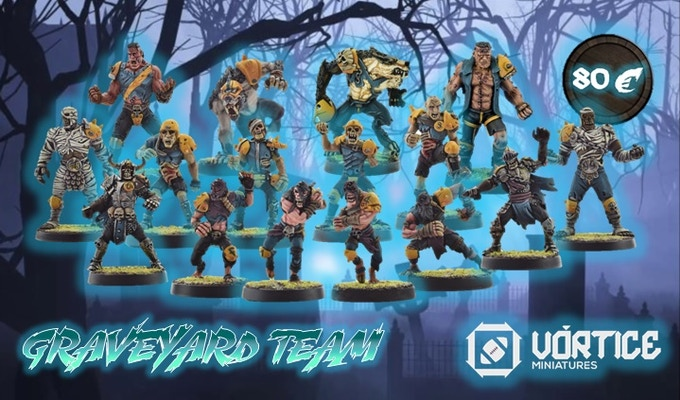 GRAVEYARD TEAM (16 Miniatures + 2 markers)  OFFER PRICE!