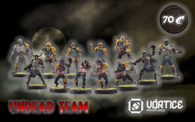 UNDEAD TEAM (12 Miniatures + 1 marker)  OFFER PRICE!