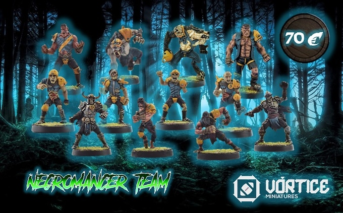 NECROMANCER TEAM  (12 miniatures + 1 marker)   OFFER PRICE!