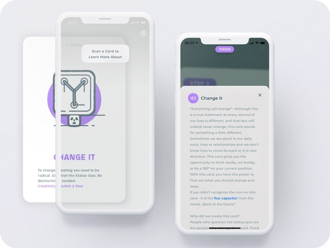 Myndset Companion App - Scan Cards