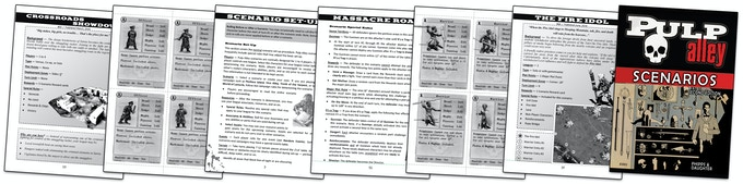 High quality printed cards are available for these scenarios on the Pulp Alley store -- store.pulpalley.com