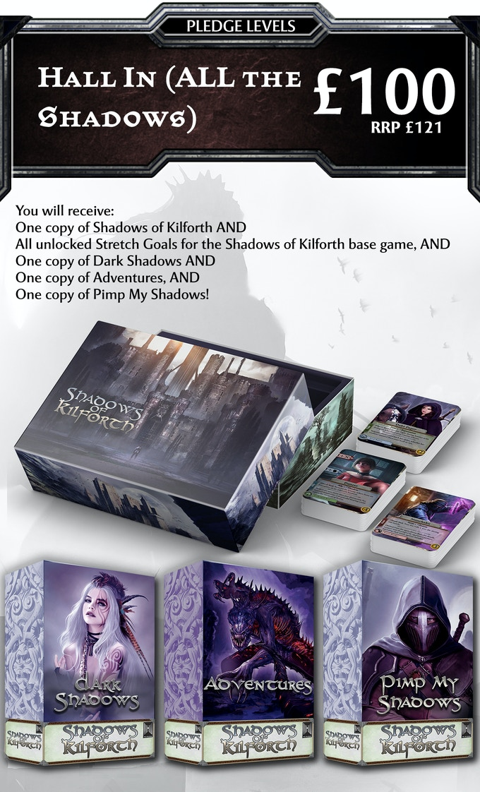 For new backers who want all the stuff!