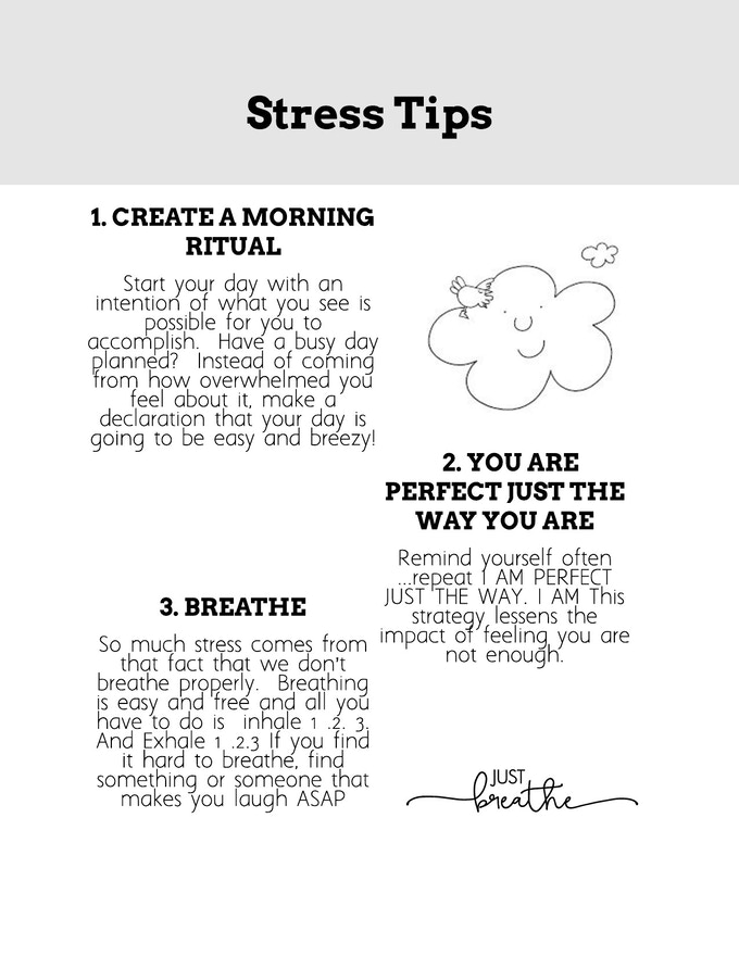 Sneak peak...stress tips in every issue!