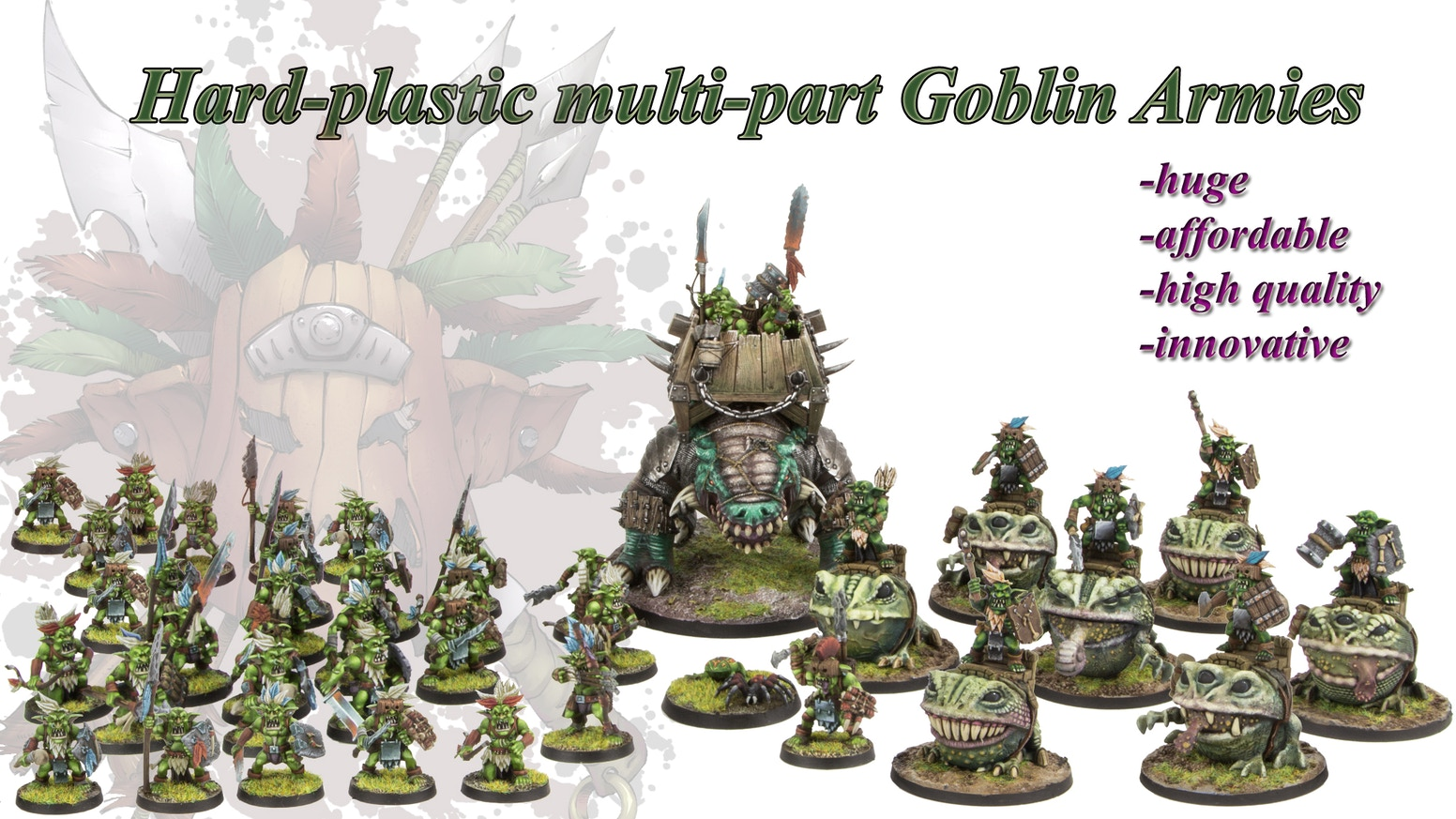 Hard-plastic Fantasy & Sci-Fi Goblin huge and affordable tabletop armies.