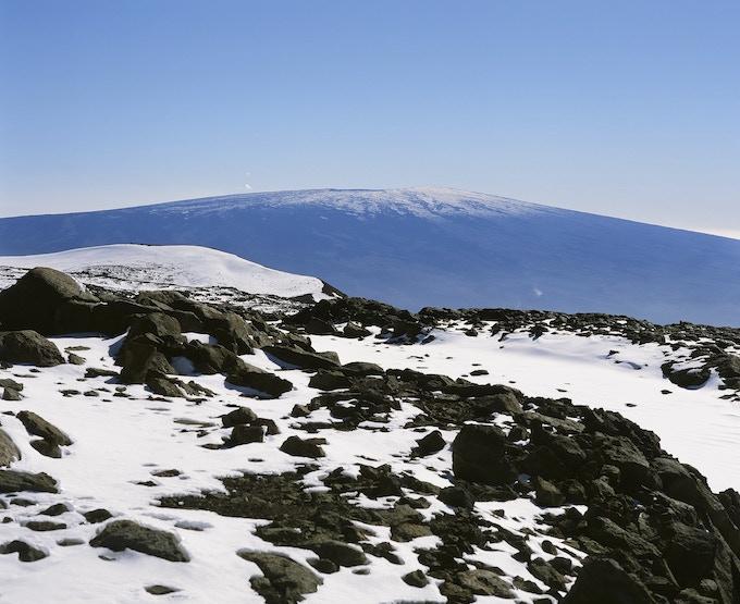Mauna Kea Summit & Mauna Loa in the distance, Provia 100F
