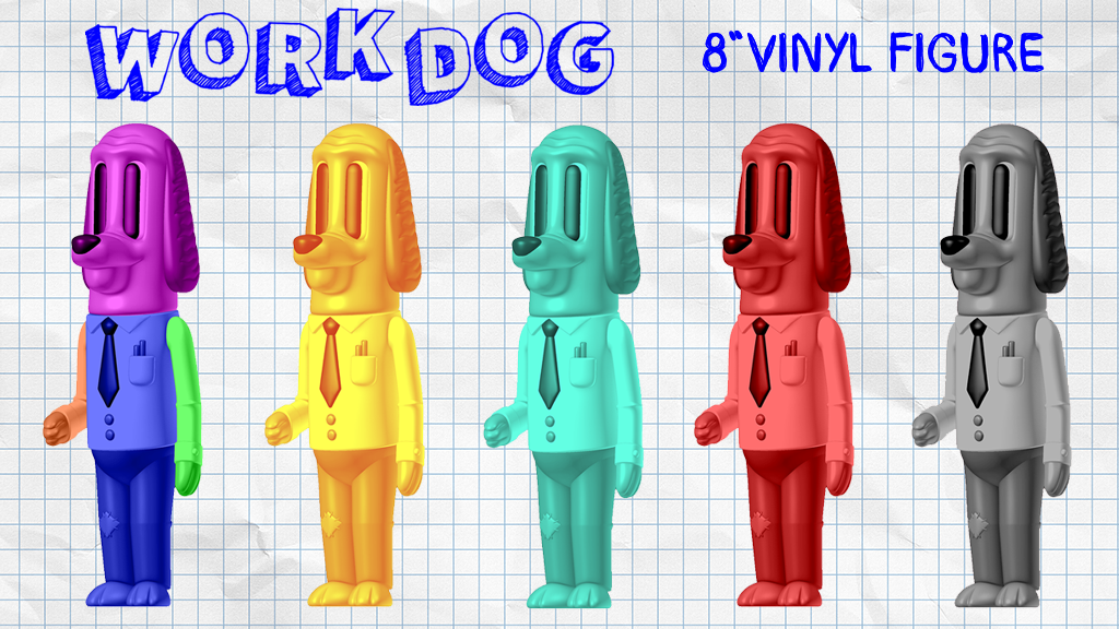 "Work Dog 8"" Soft Vinyl Figure project video thumbnail"