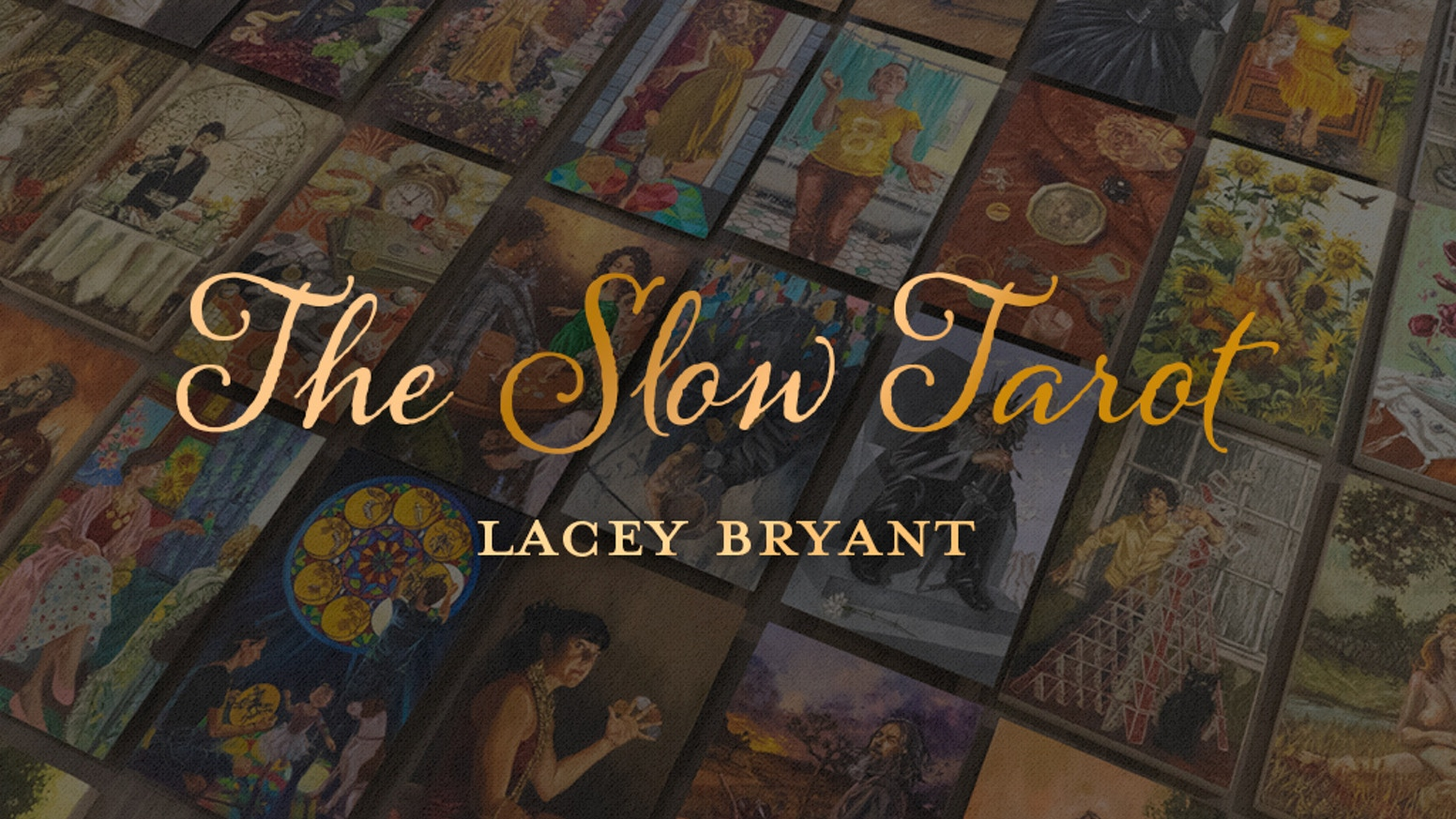 A 78 card tarot deck featuring original oil paintings by artist Lacey Bryant.