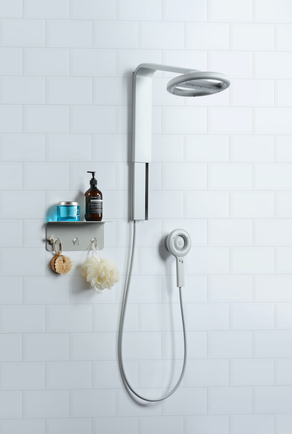 Nebia Spa Shower 2.0 & Nebia Shelf - Matte Silver