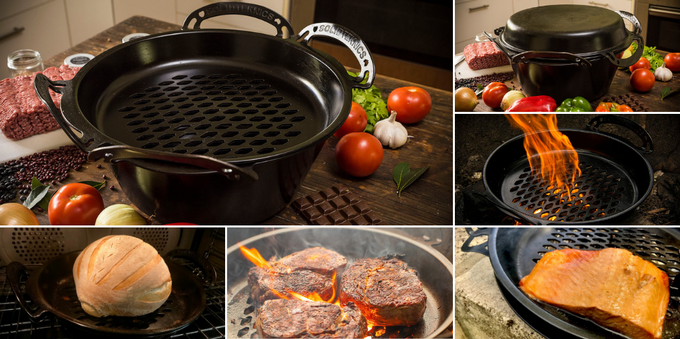 Seasoning results following our 'best practice' method of achieving the most effective all natural, non-toxic, non-stick for SOLIDTEKNICS AUS-ION RAW smooth wrought iron pans (wrought in one rivetless solid piece, and half the weight of cast iron).