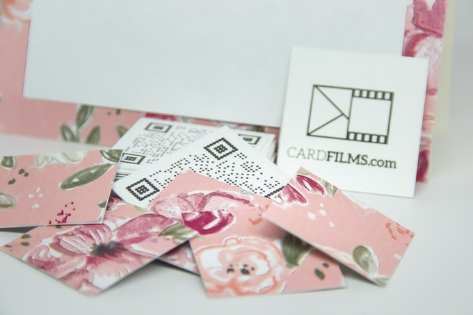 CardFilms can be dressed up or down to match wedding invitations and other stationary.