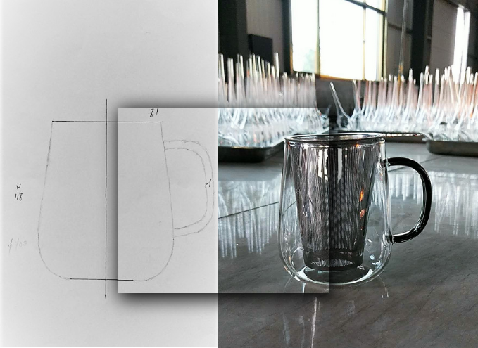 From the first sketch to the final Tea Glass.
